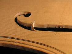 Soundhole being cut