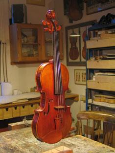 Finished violin